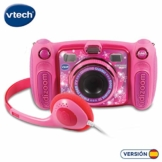 Vtech Kidizoom Duo 5.0 Digitale Kamera für Kinder, 5 MP, Farbdisplay, 2 Objektive, Pink Spanische Version Rosa - 1